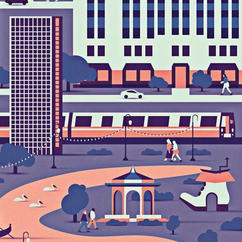 99designs' Oakland Office Poster Design
