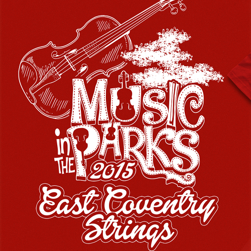 """Create a  musical theme pertaining to string instruments for """" Music in the Park"""