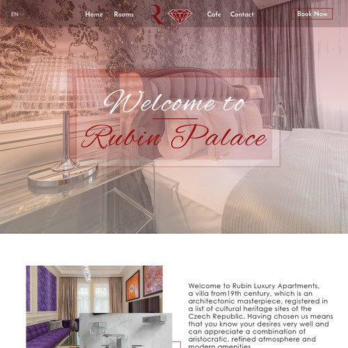 Web design for luxury apartments
