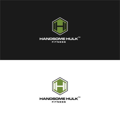 Create a logo and monogram design for Handsome Hulk fitness brand