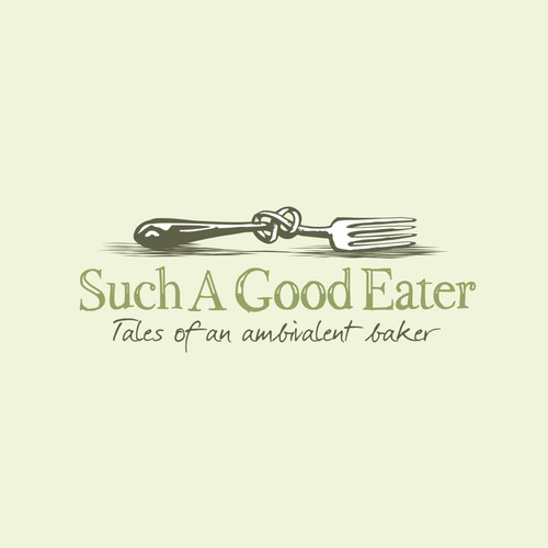 """Vintage style logo for a food blog """"Such A Good Eater"""""""
