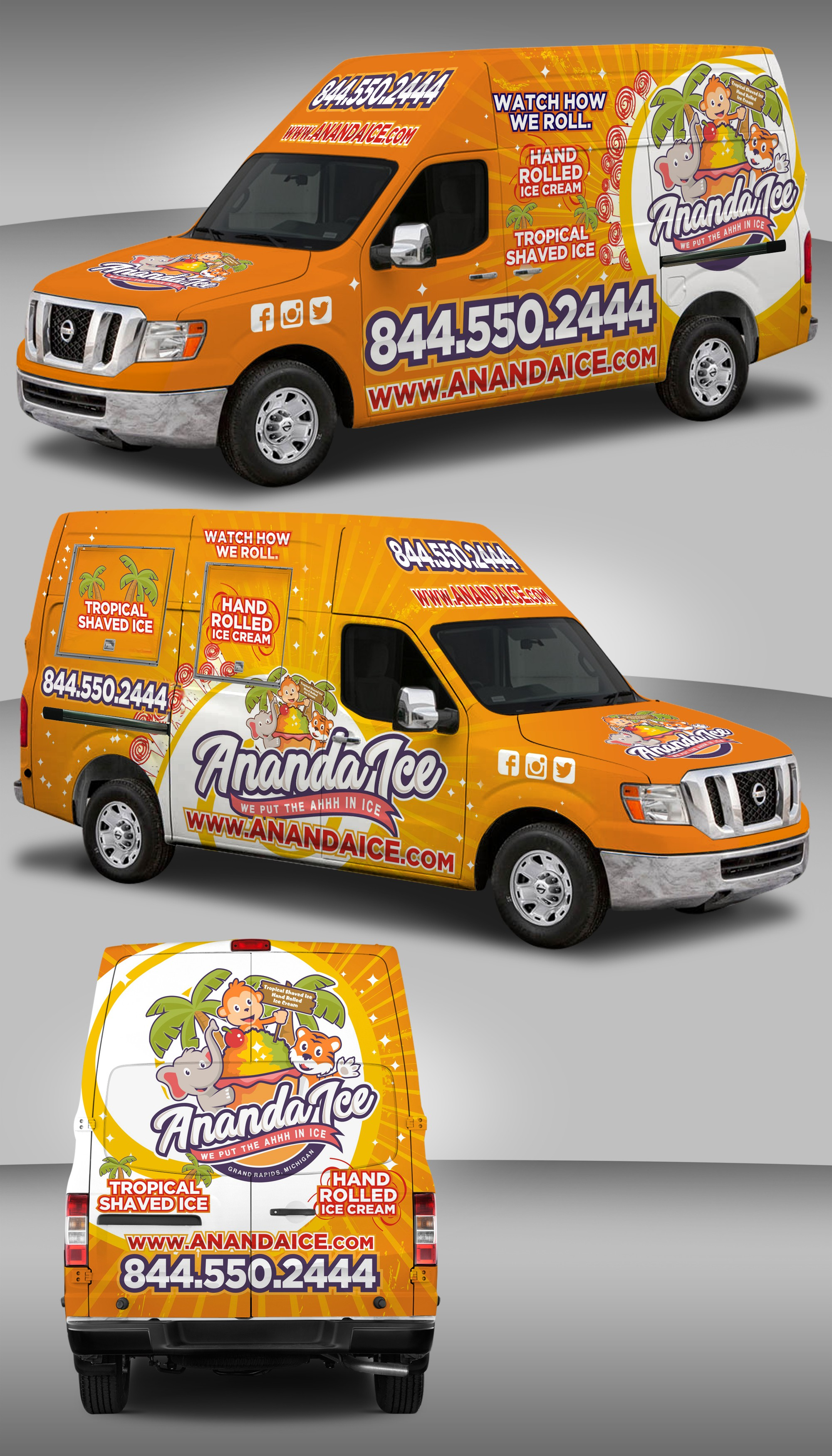 Nissan NV wrap (Ananda Ice)