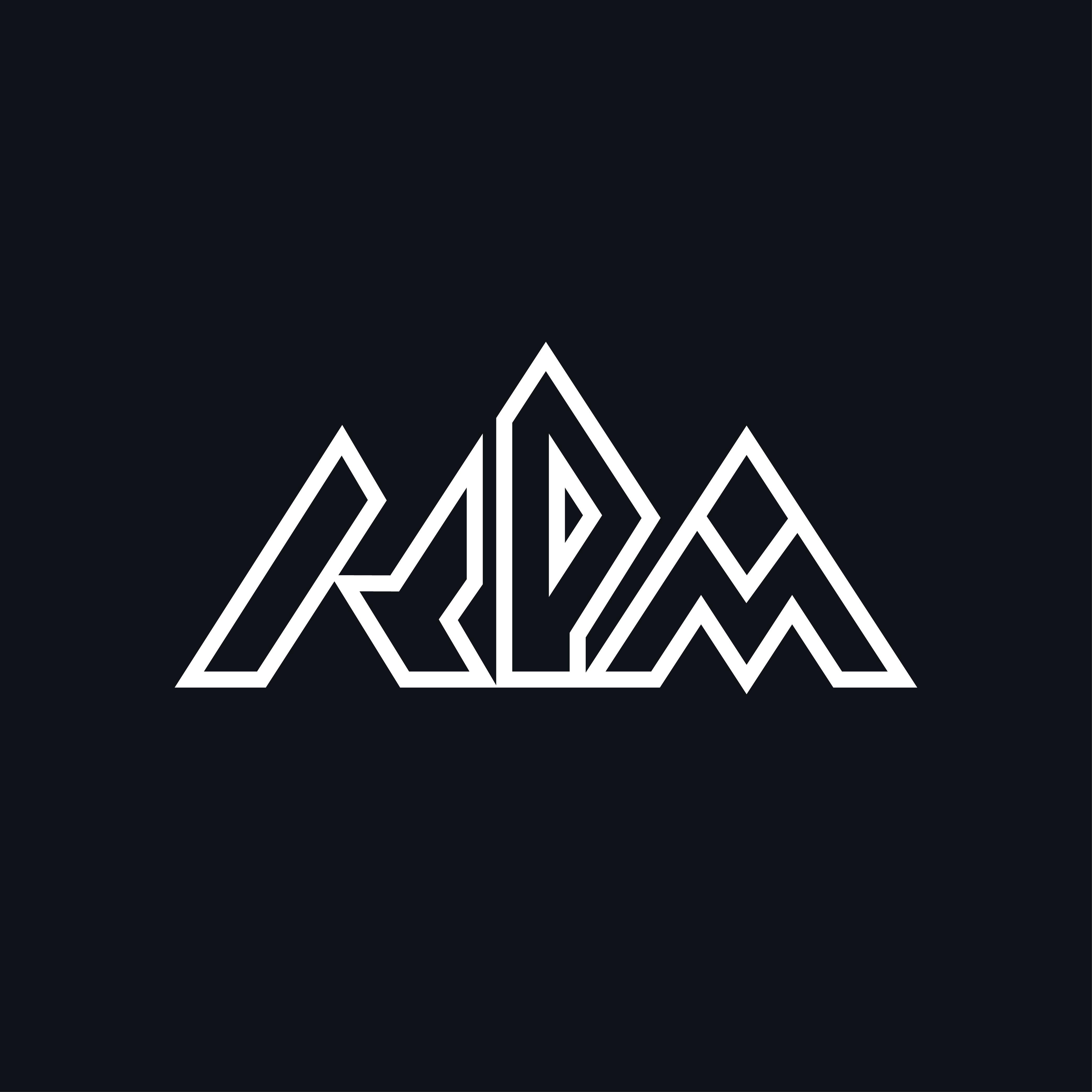 Unique logo for initials KPM