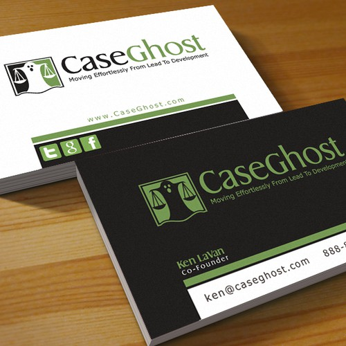 logo and business card for Case Ghost