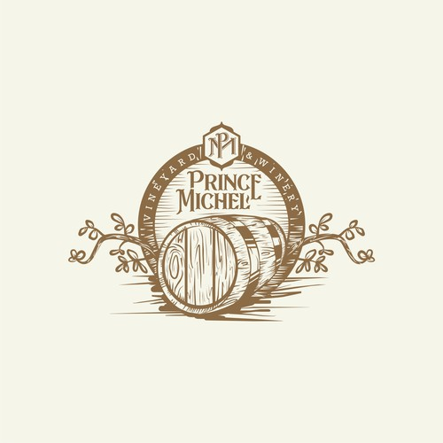 Logo concept for winery