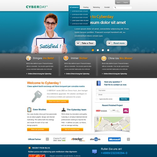 Cyberday new website design