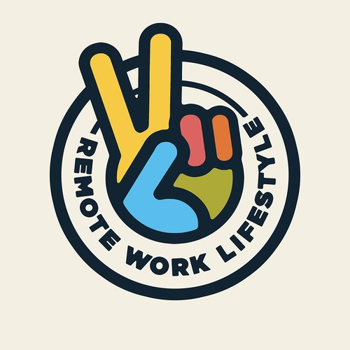 Laptop Sticker Concept for Remote Work Lifestyle