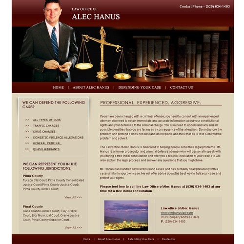 Small Law Office Web Design - Uncoded - $201