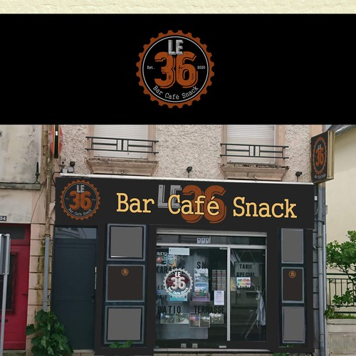 logo concept for Bar Café Snack