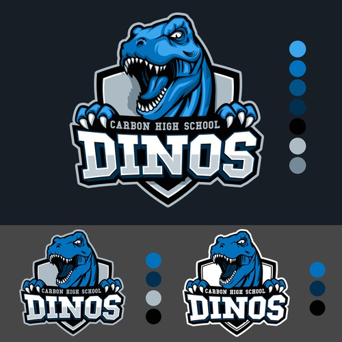 Strong and Fierce T-Rex  Mascot Logo Design