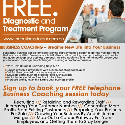 business or advertising for The Business Doctor