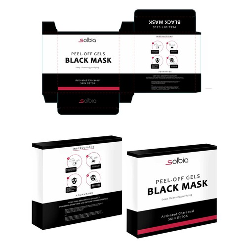 Packaging for Activated Charcoal black Mask