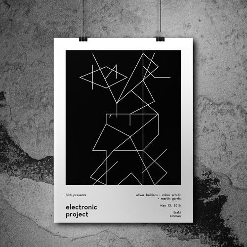 minimalistic poster design