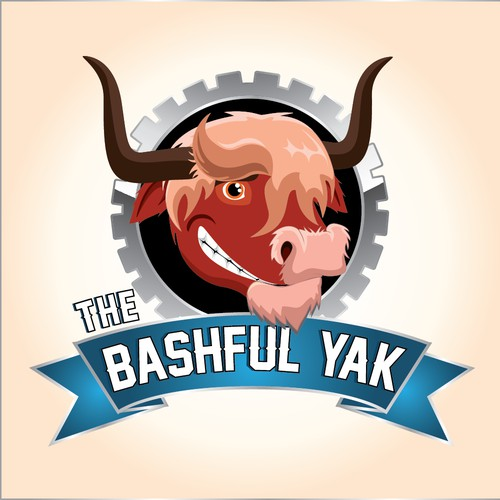 Create the next logo for Bashful Yak