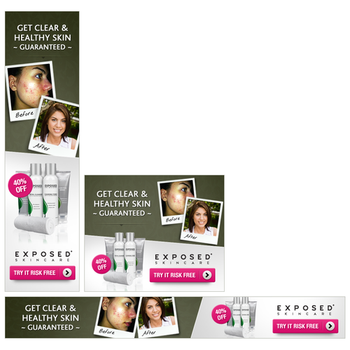 Skin Care Banner Ads