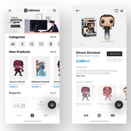 E-shop Product App design
