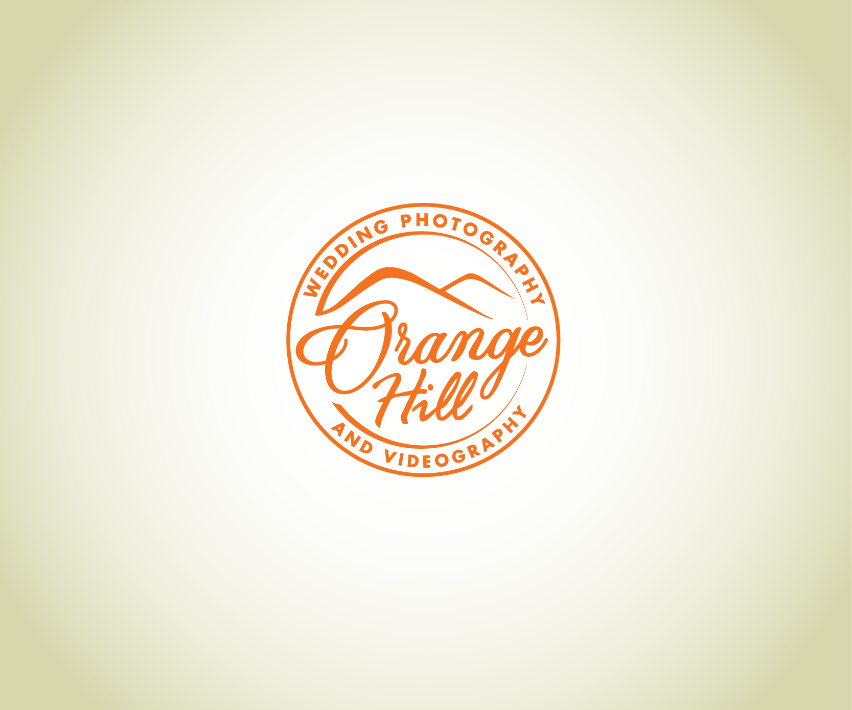 Create a trendy rustic or modern logo for Orange Hill photography and videography