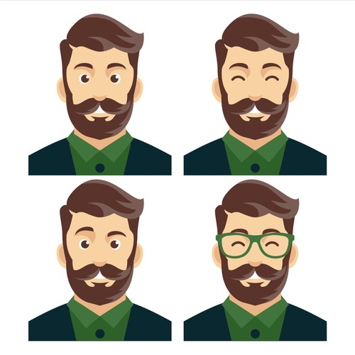 Bearded hipster men