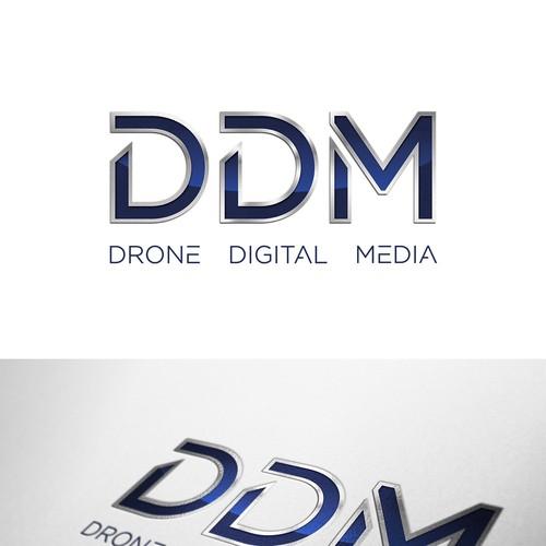 DDM Drone Digital Media Logo Design