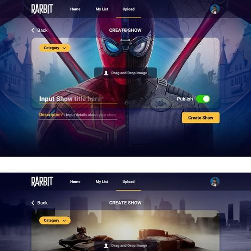 Nexflix like web app design