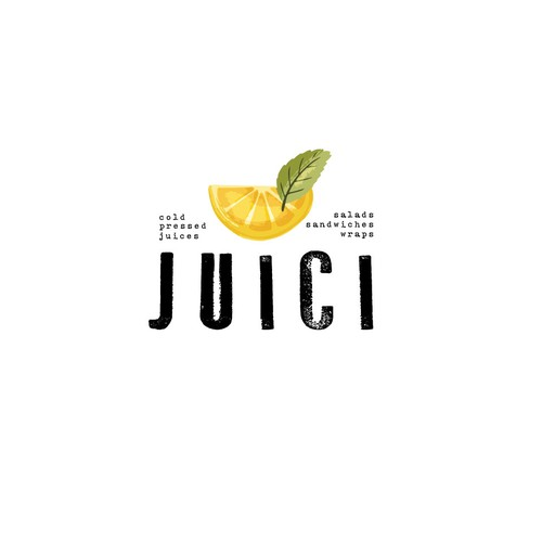 Design a logo for a chic juice, smoothie, and salad bar restaurant
