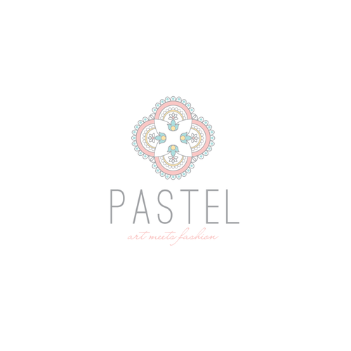 Luxurious fashion logo, with a touch of moroccan or indian style