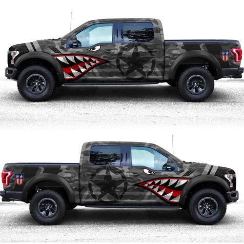 Patriotic Ford Raptor (USA)