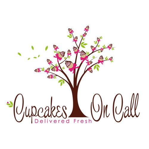 whimsical cute cupcake tree
