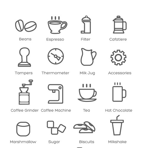 Coffee Shop icons set.