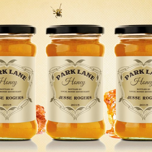 Create a classic honey label for a family farm