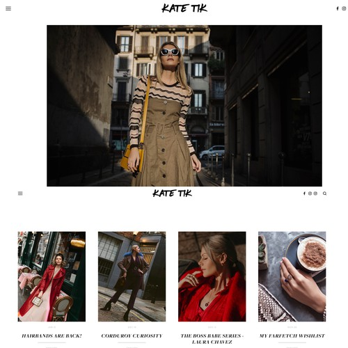 Website - Kate Tik Blogger and Fashion Influencer