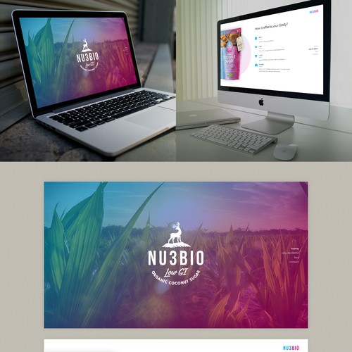 Colourful e-commerce webdesign for a product line