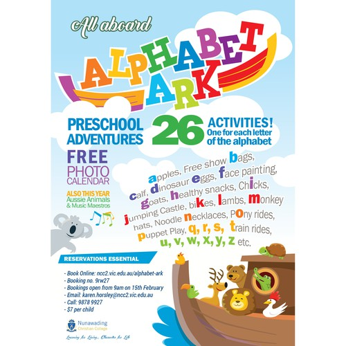 Poster and logo for Alphabet Ark