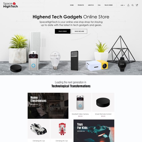 High-End Tech Gadget E COMMERCE SOTRE