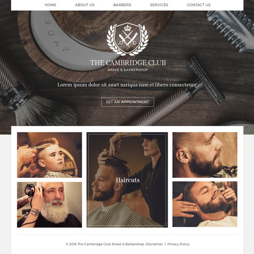 Web Design For A Barber Shop