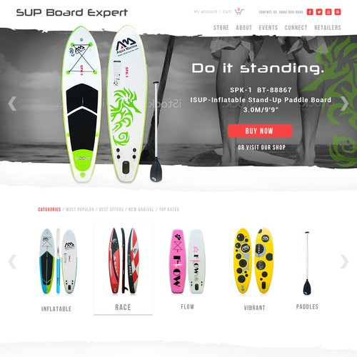 Web page for SUP boards