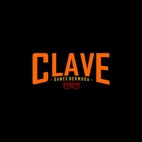 simple logo for CLAVE DANCE BERMUDA