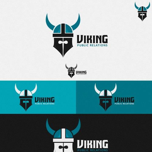 Create a simple, elegant Logo for VIKING Public Relations