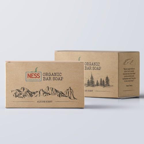 Label fo Organic Bar Soap