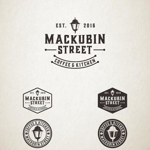 Vintage logo for Mackubin Street Coffee & Kitchen
