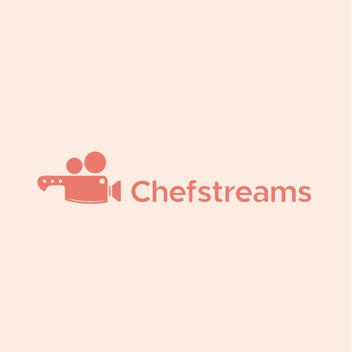 Chefstreams Logo Design host for live streamed cooking classes with restaurant chefs.