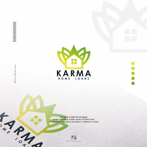 Karma Home Loans Logo concept