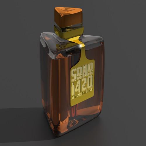 3D design Whiskey bottle