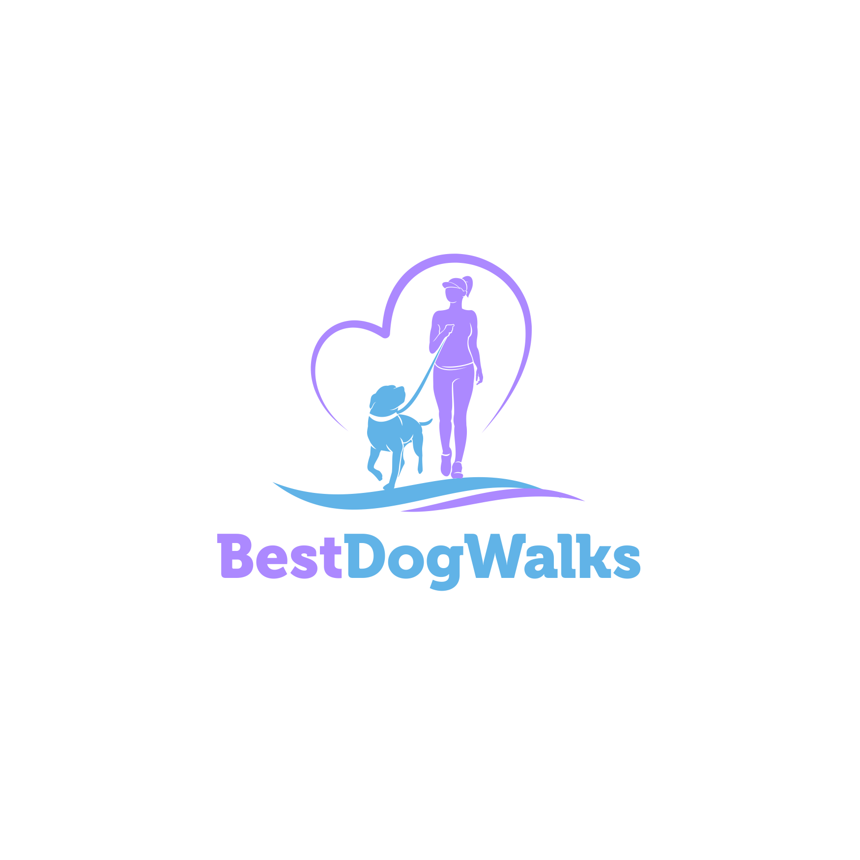 Design an elegant fun logo for a boutique dog walking business