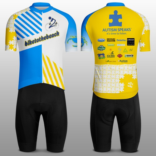 Custom Cycling Jersey for Autism Bike Ride