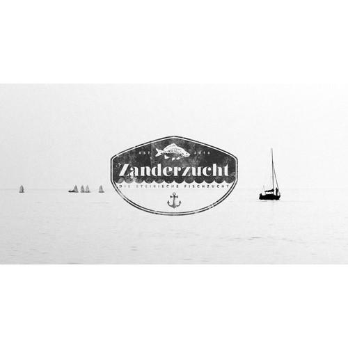 Logo for a fish hatchery company