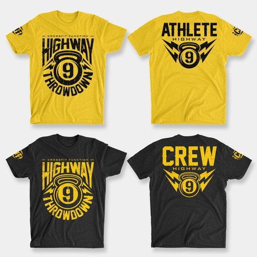 WINNING TEES DESIGN CONTEST - HIGHWAY 9 THROWDOWN