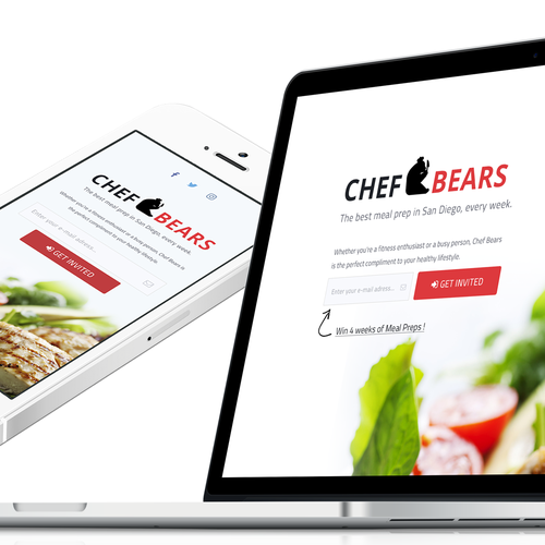 Chef Bears Landing Page
