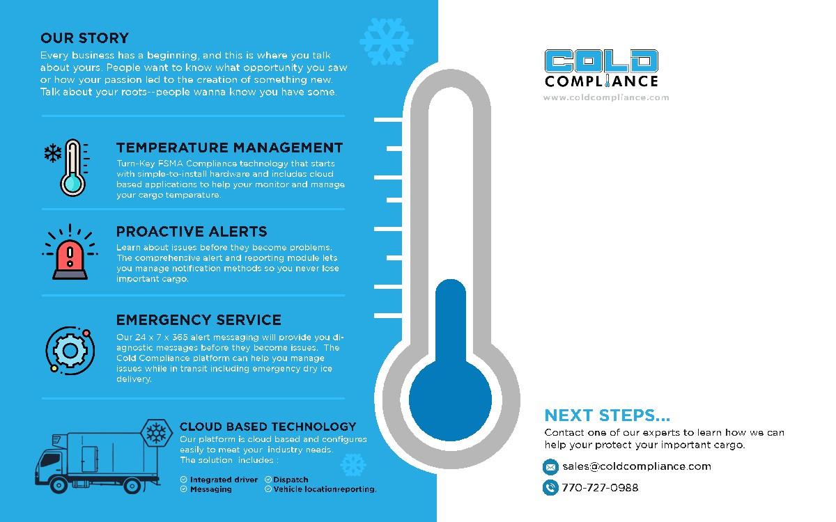 Cold Compliance Postcard Campaign