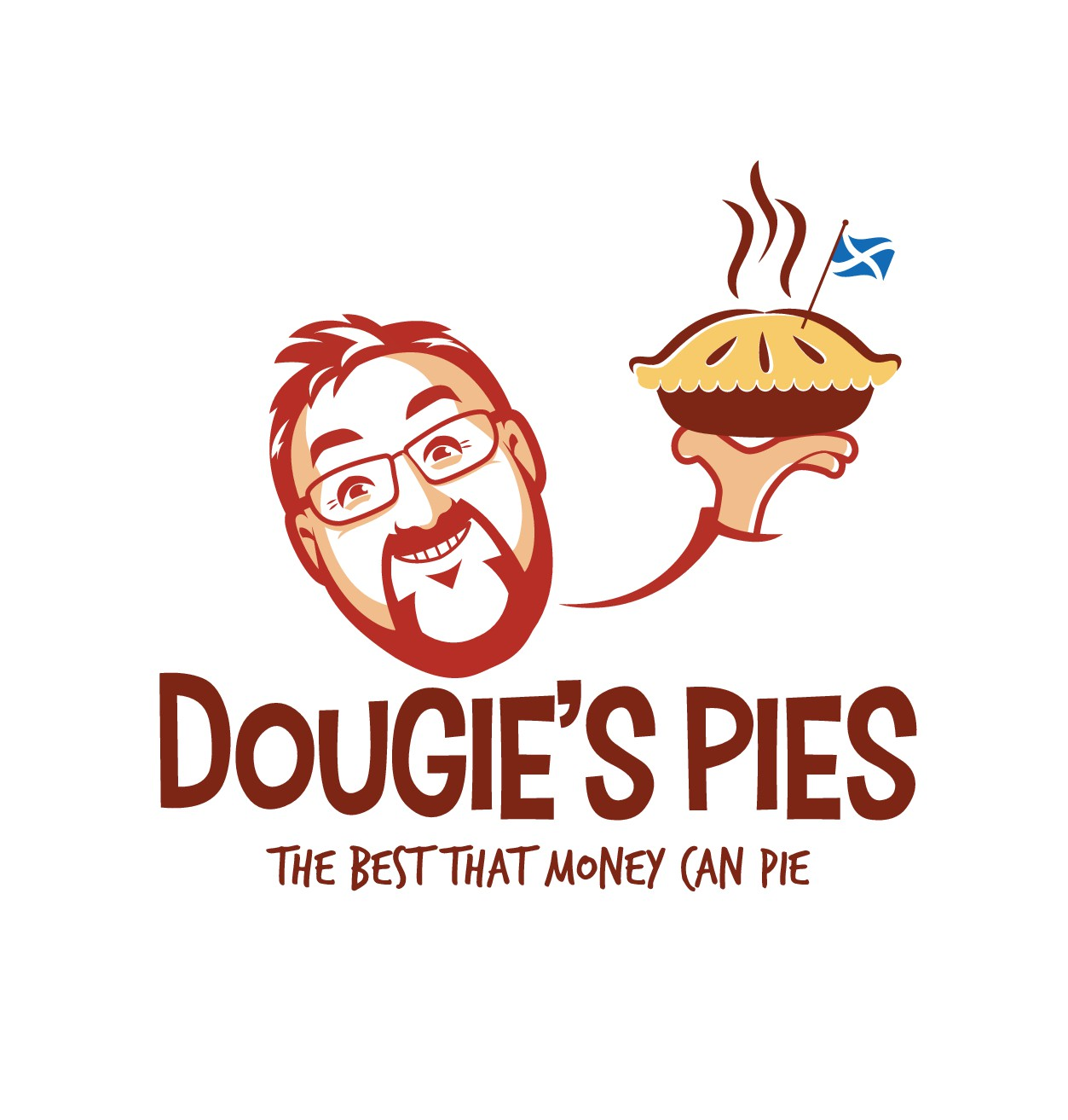 Design a clear, entertaining logo for Dougie's Pies (let's put the fun in funky!)